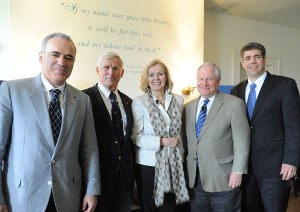 Gary Kasparov, Bob Schoultz, Peggy Noonan, Bill Kristol, and Jimmy Kemp at the Jack Kemp Foundation Conference.