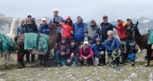 We gathered for a group pic as we came together at a mountain pass.