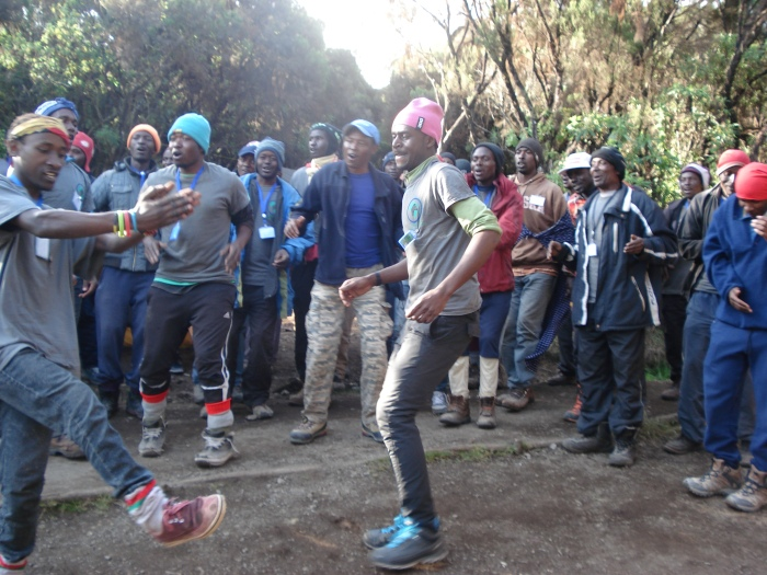 Sometimes they met us when we arrived in camp with joyful singing and dancing.