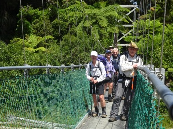 Our group on one of the many suspension bridges that crossed creeks, rivers, small canyons on our hike